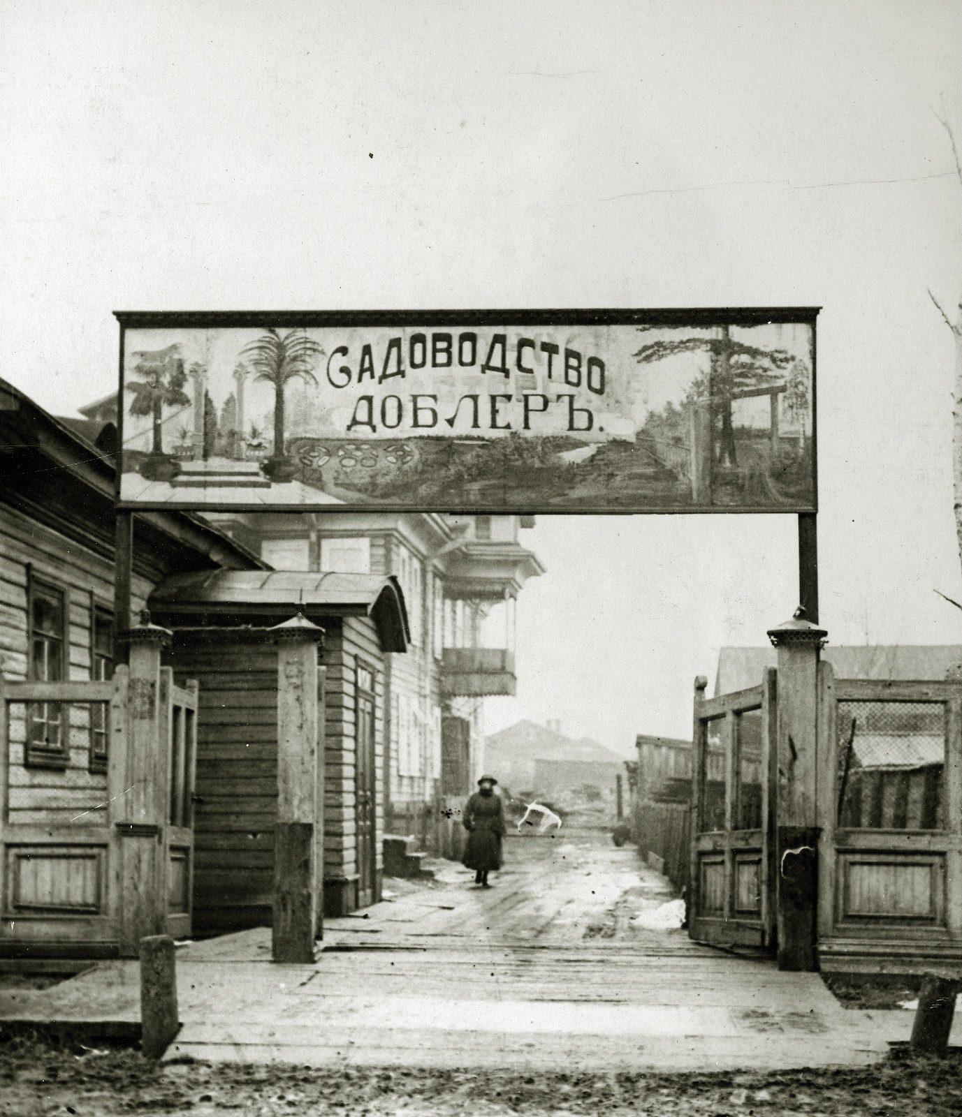 Garden Nursery Dobler. Arkhangelsk (Archangel) during revolution and civil war 1918-1919