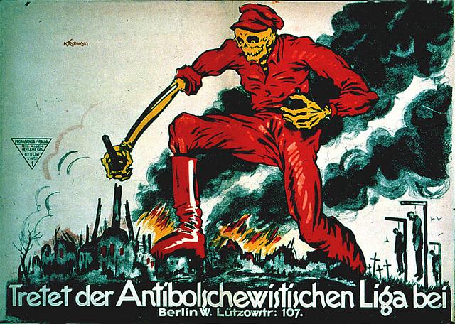 Tretet der Antibolschewistischen Liga bei