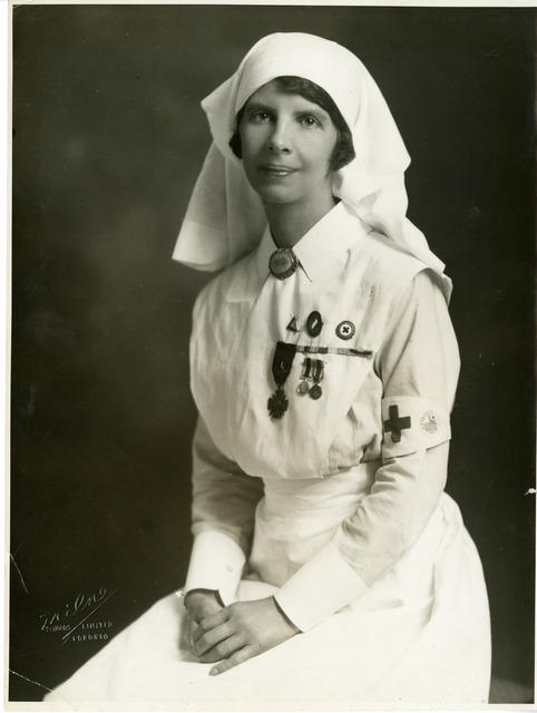 Canadian nurse Madeleine Jaffray