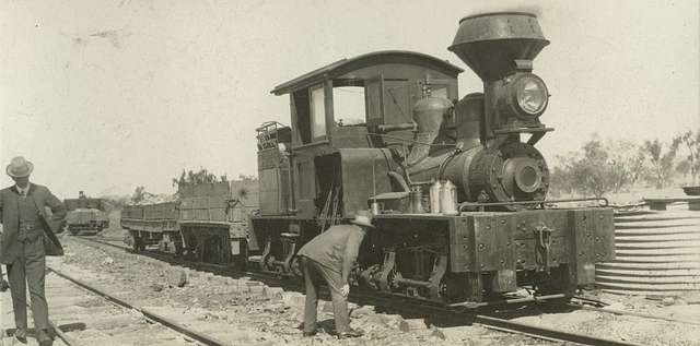 Steam locomotive at the Hampden Smelter and Mining Complex (4732518938)