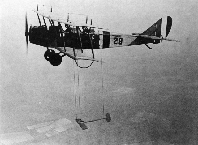 "Curtiss JN-4 ""Jenny"" Aircraft With Model Wing Suspended"