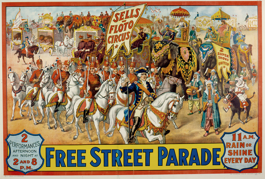 Free Street Parade of the Sells-Floto Circus WDL10700