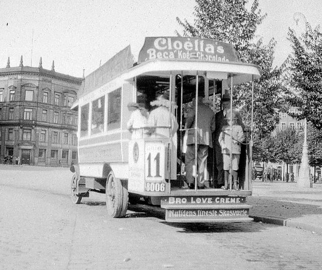 Bus in Copenhagen, Denmark in 1922