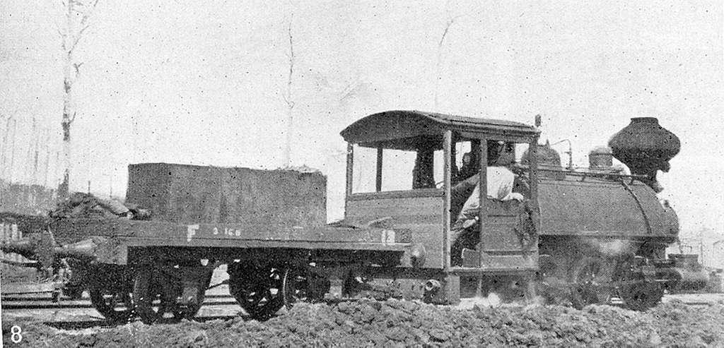 Baldwin 'Big Ben' on the Marrawah Tramway during reclamation of Welcome Swamp. P Howard photo(16061292712)