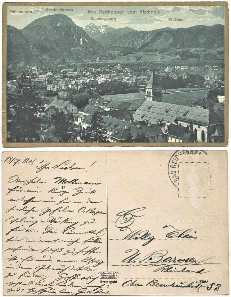 AK - Bad Reichenhall vom Kirchholz - 1924