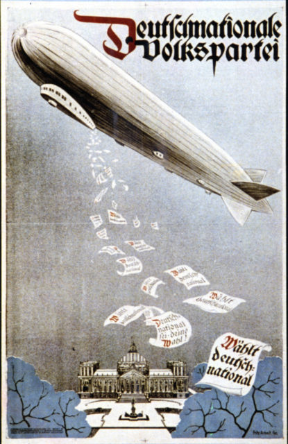 german election poster. oct 1924