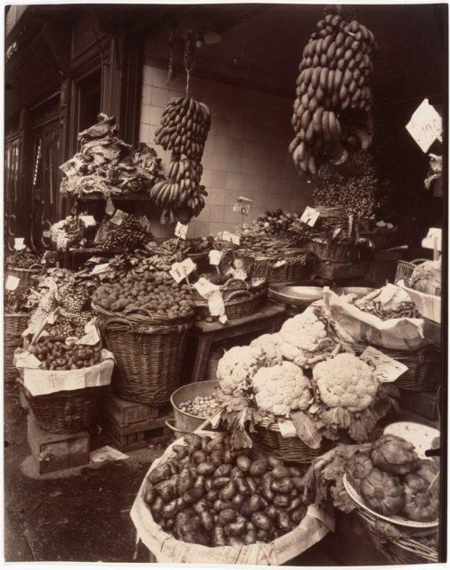 Boutique de fruits et légumes, Rue Mouffetard