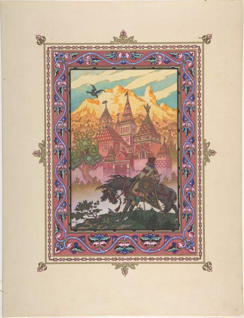 "Illustration for ""Maria Morenva"" [Tsarevich Ivan at the Castle of the Falcon]"