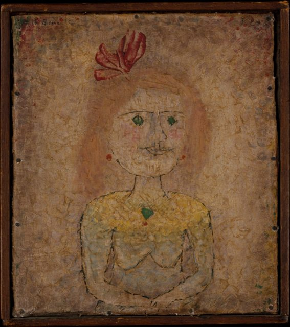 Small Portrait of a Girl in Yellow