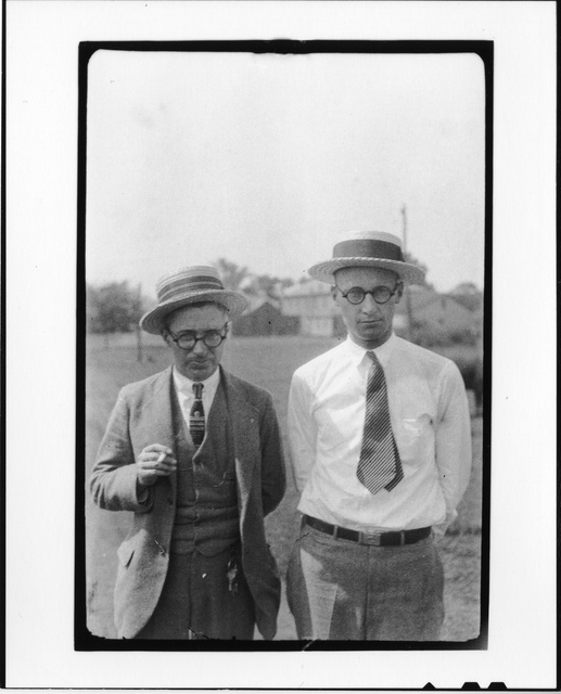 Tennessee v. John T. Scopes Trial: George Washington Rappleyea (l) and John Thomas Scopes (r)