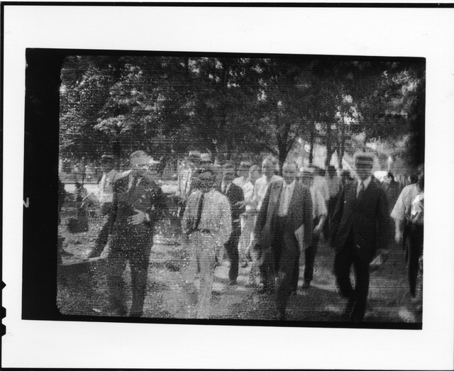 Tennessee v. John T. Scopes Trial: Group of men walking.