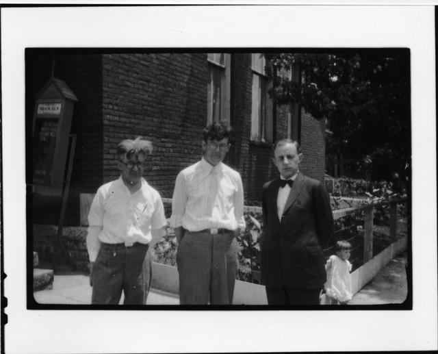 Tennessee v. John T. Scopes Trial: Group on steps of Dayton Methodist Episcopal Church (North), Dayton, Tennessee.