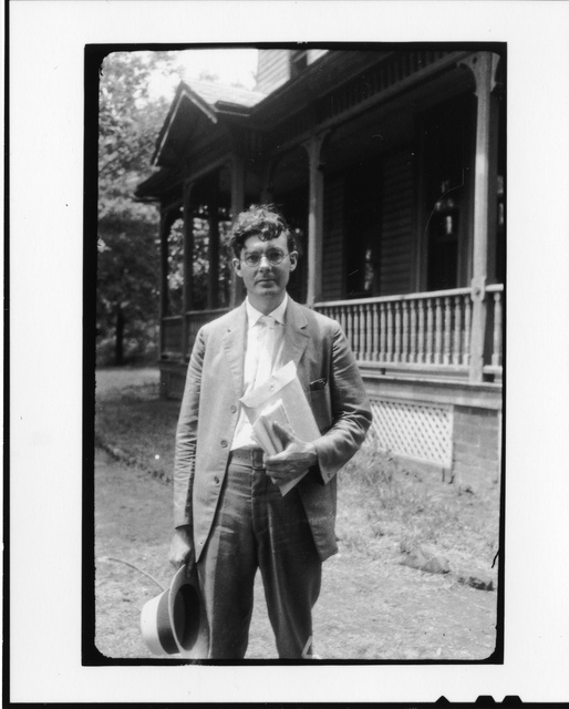 Tennessee v. John T. Scopes Trial: Howard Gale Byrd, outside the Defense Mansion.