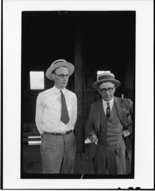 Tennessee v. John T. Scopes Trial: John Thomas Scopes (l) and George Washington Rappleyea (r)