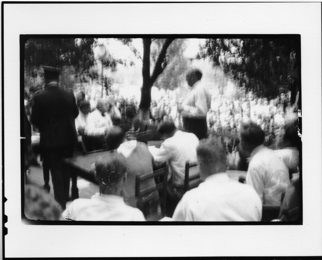 Tennessee v. John T. Scopes Trial: Outdoor proceedings on July 20, 1925, showing William Jennings Bryan and Clarence Darrow. [4 of 4 photos]