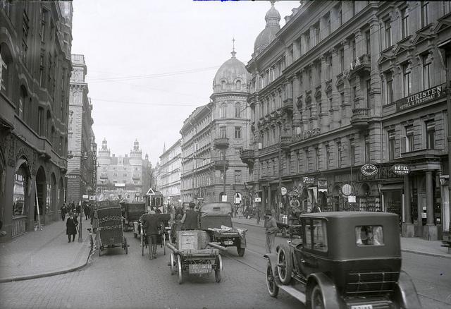 Vasagatan in Stockholm in 1925