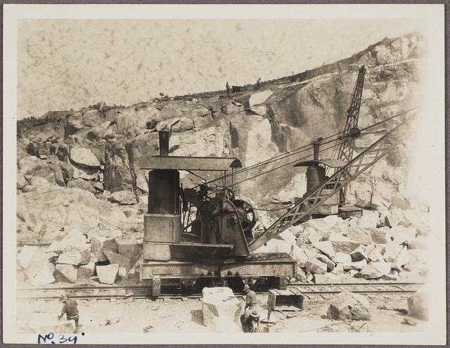 Stanley, S.B. Purves - photographs of the quarry at Moruya used for construction of the Sydney Harbour Bridge, 1925-1927
