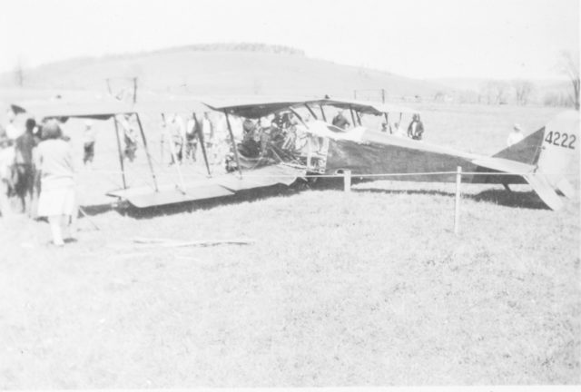 Curtiss JN-4D NC4222 Newark Valley NY 1928