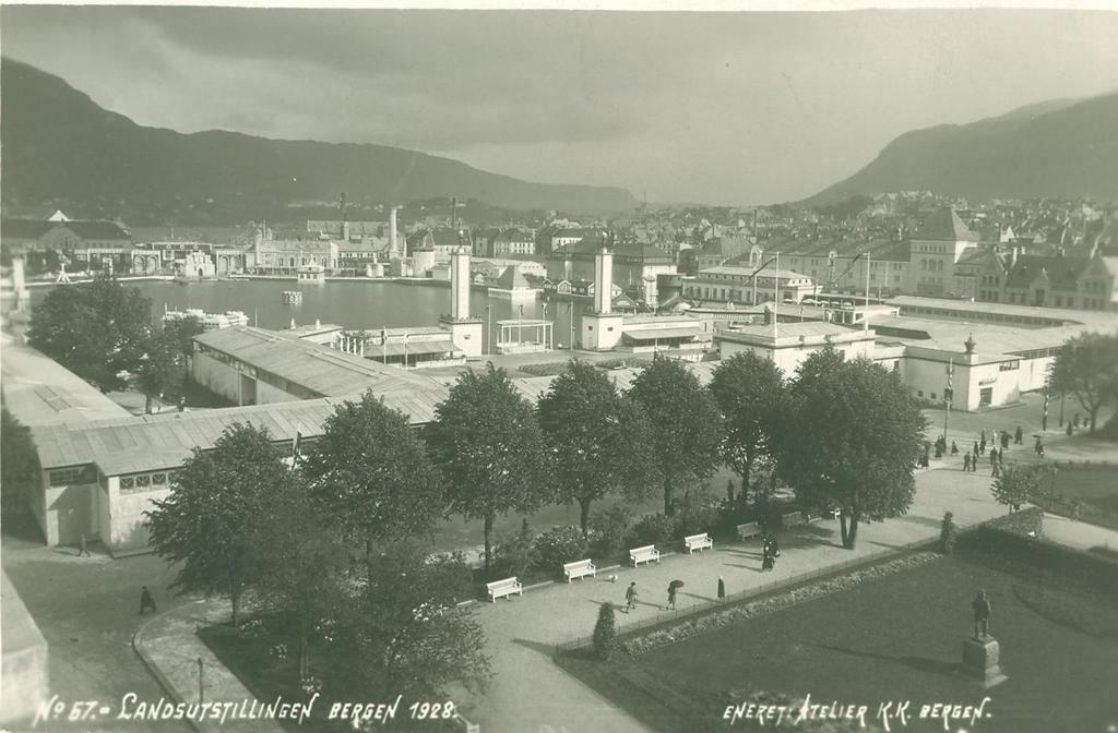 View of the National fair in Bergen 1928