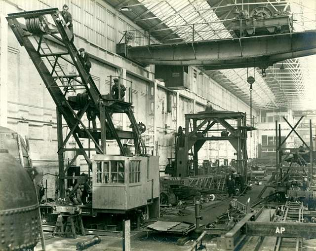 Building cranes at the Elswick Works