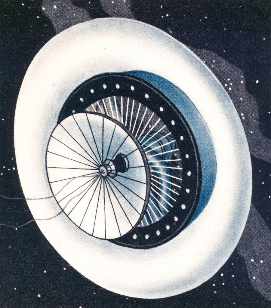 Noordung's Space Station Habitat Wheel