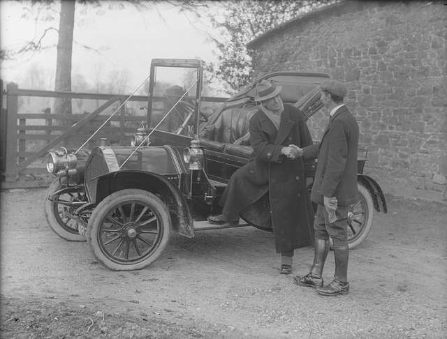 Messrs Cooper, talking at motor car
