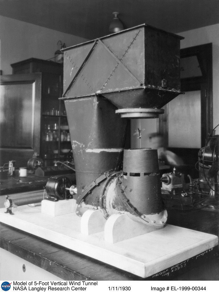Model of 5-Foot Vertical Wind Tunnel