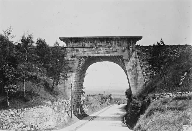 """""""Railway line and bridge in Sandycove, Co. Dublin"""" - is actually Newry's Egyptian Arch"""