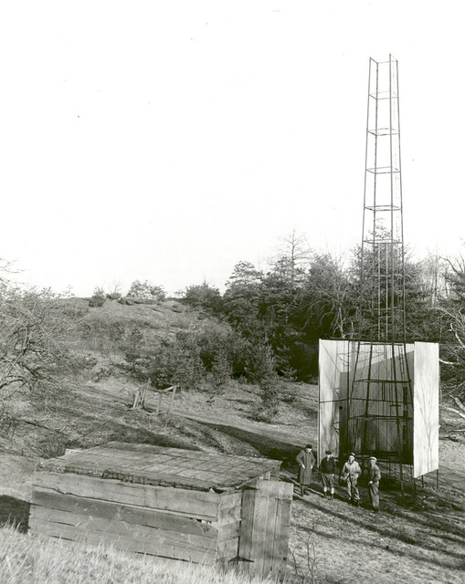 Robert Goddard's Tower and Shelter at Camp Devens