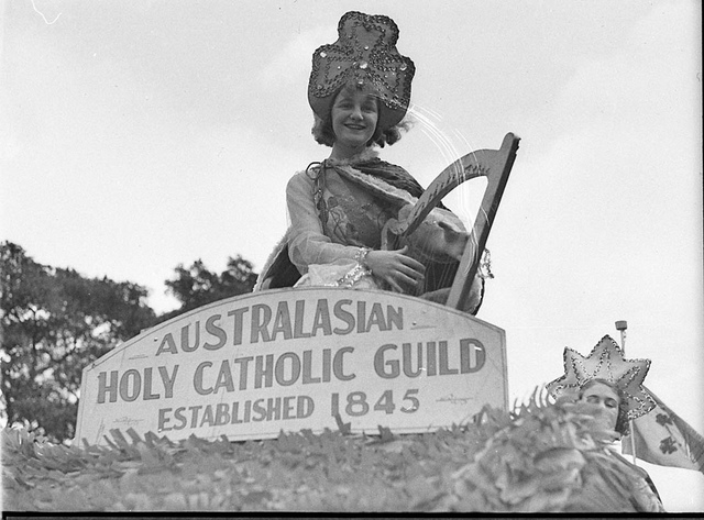 Saint Patrick's Day parade, c. 1930s by Sam Hood