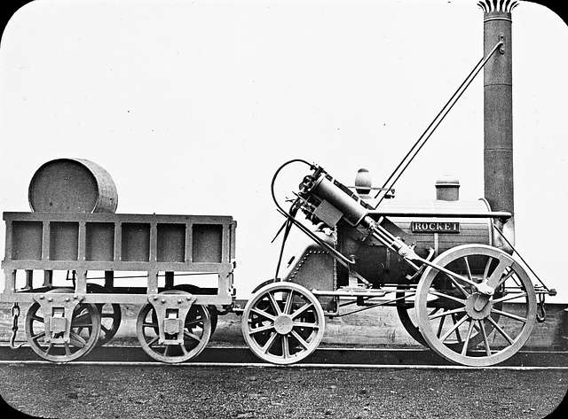 'The Rocket' locomotive engine - Stephenson