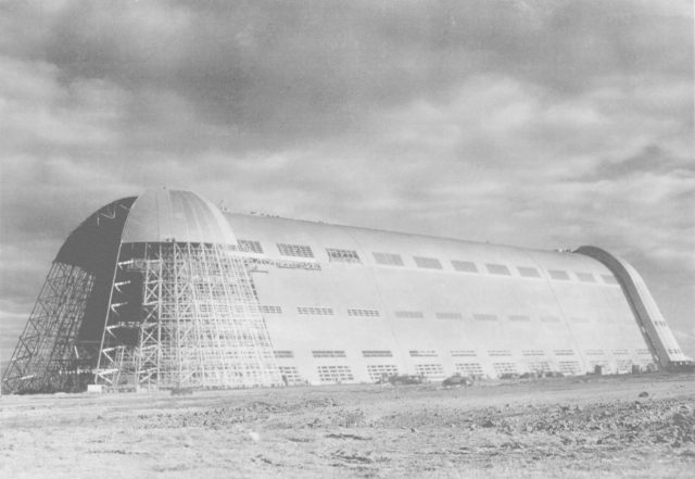 Construction of Hangar One at NAS Sunnyvale  circa 1932 - 1934 photos provied from private collection with permission to use by NASA Ames Research Center ARC-1932-AD93-0073-20