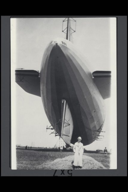 Navy Another view of USS AKRON,  Ruth Soule' Johnson (Mrs. Victor A Hermann) in lower center ARC-1932-AC88-0284-1