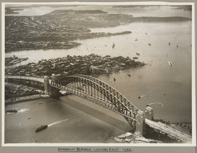 Sydney Harbour Bridge looking east, 19 March 1932