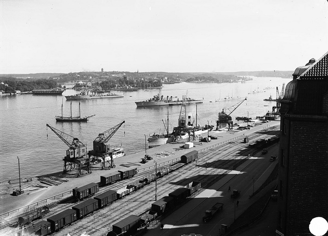 View over Stockholm harbour 1932