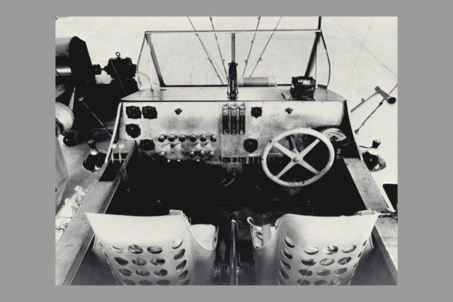 Blimp J-4 Car instrument panel  (non-rigid air ship) ARC-1969-A91-0261-29