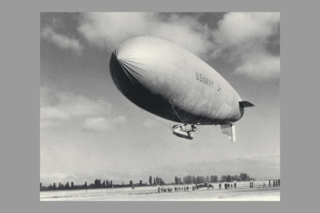 Blimp J-4 tether (non-rigid air ship) ARC-1969-A91-0261-30