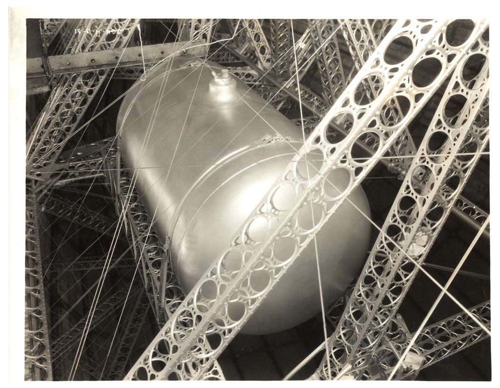 Photograph of a Oil Tank on the USS Akron, ca. 1933