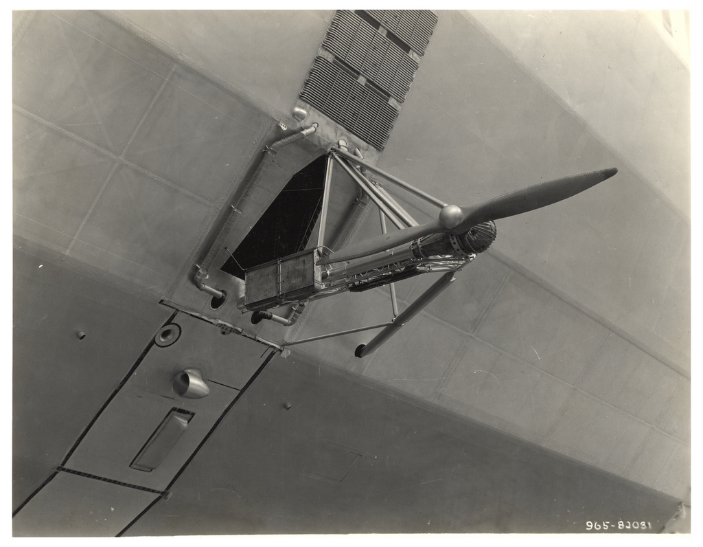 Photograph of a Propeller on a Dirigible, ca. 1933