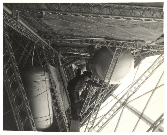 Photograph of a Side Corridor on a Dirigible, ca. 1933