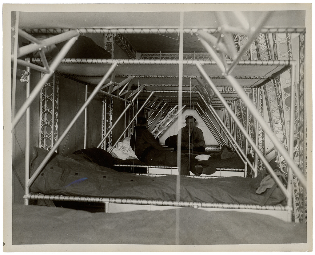 Photograph of Crew Bunks of a Dirigible, ca. 1933