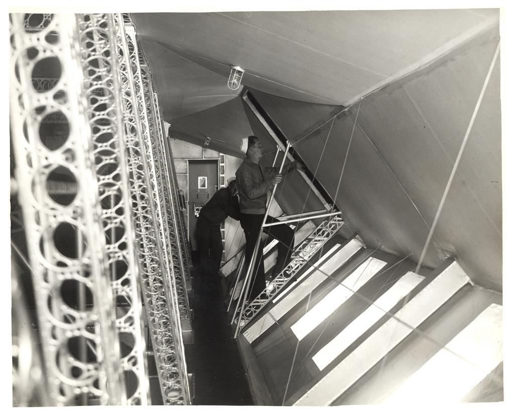 Photograph of Crews Quarters in a Dirigible, ca. 1933