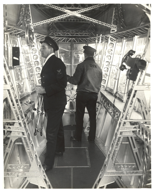 Photograph of Emergency Control Station of a Dirigible, ca. 1933