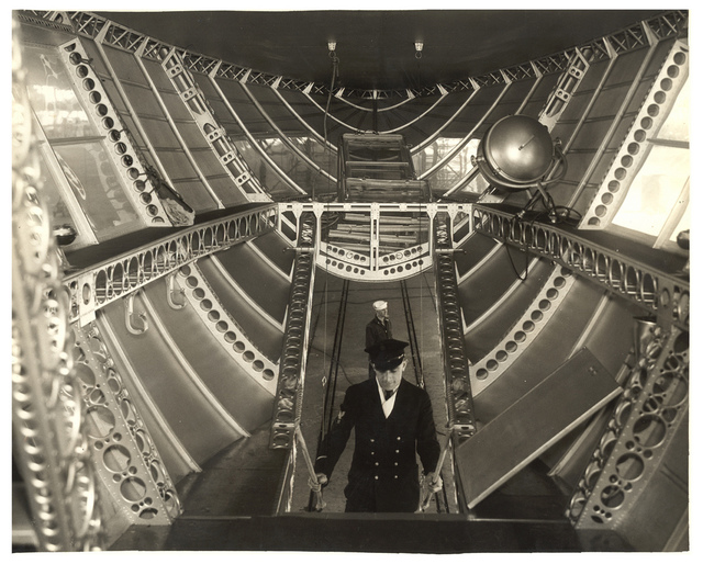 Photograph of the Rear Control Car of a Dirigible, ca. 1933