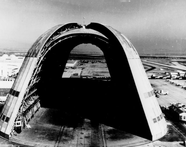 The Dirigible Hanger at Moffett Field