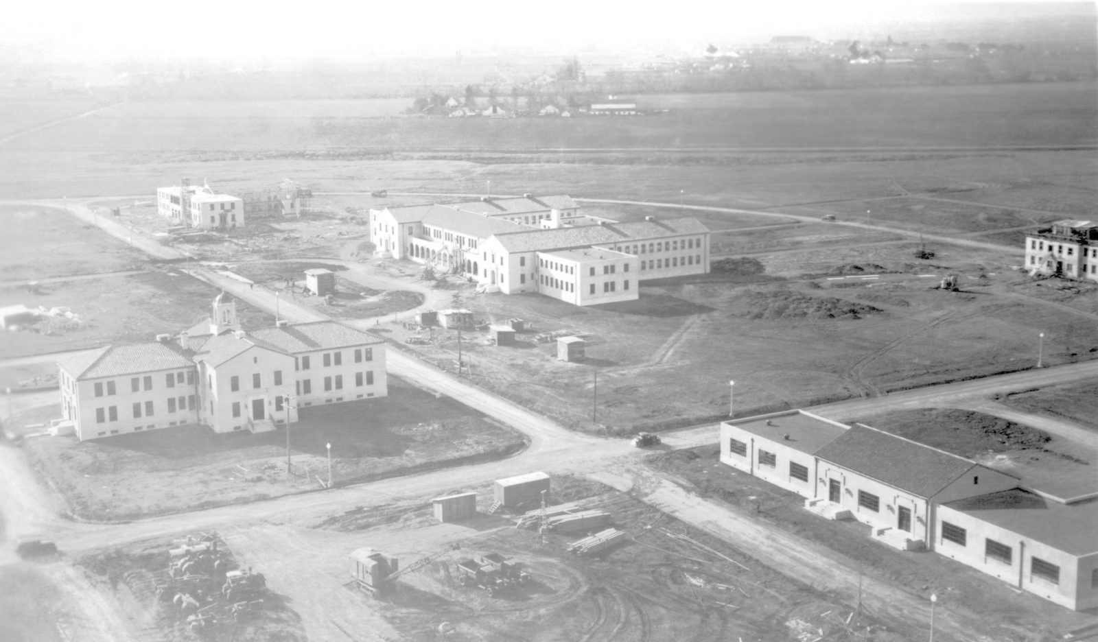 Construction  at NAS Sunnyvale later remamed NAS Moffett Field circa 1933 - 1934 photos provied from private collection with permission to use by NASA Ames Research Center ARC-1934-AD93-0073-26