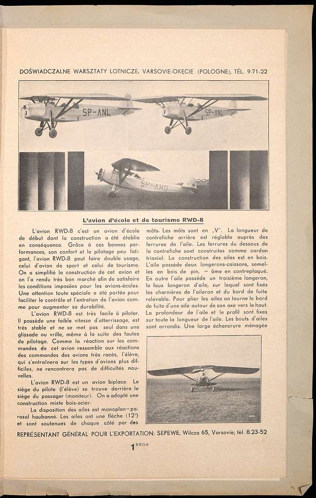 Doswiadczalne Warsztaty Lotnicze, Varsovie-Okecie (Pologne) 1934 (40196865)
