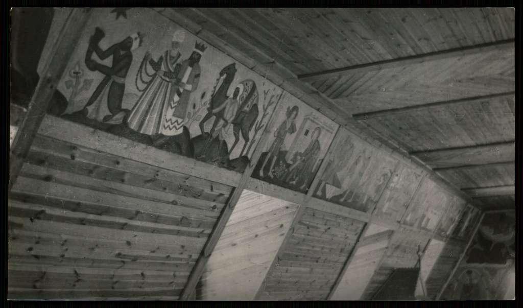 Fragment fryzu polichromii Zofii Baudouin de Courtenay z kosciola Wszystkich Swietych w Starachowicach. 1934 (10192219)