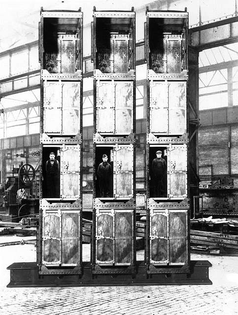 Man cages manufactured by Vickers Armstrong