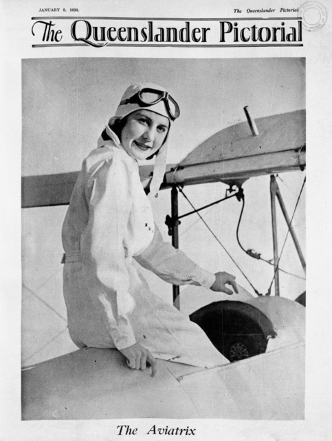 The Aviatrix, Cover of The Queenslander Pictorial, 1936